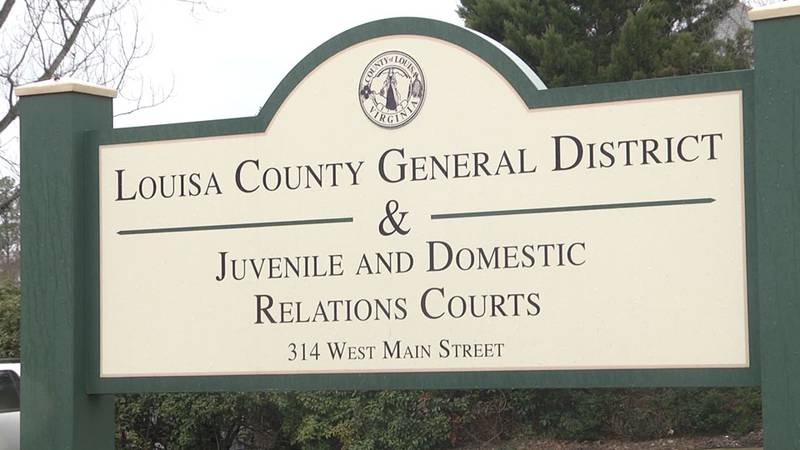 Sign for Louisa County General District & Juvenile and Domestic Relations courts.