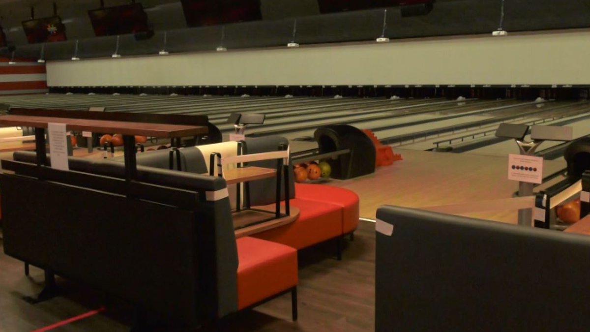 The bowling alley has new couches and a new design and is also implementing safety measures.