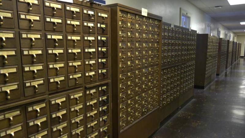 Card catalog at UVA's Alderman Library