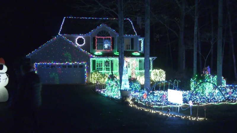 Jeff Spinello decorated his home in Fluvanna with thousands of lights for the holidays