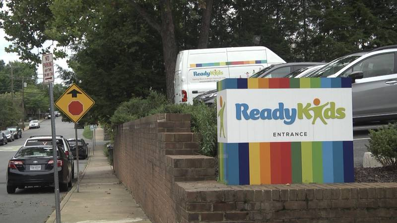 Outside of the front of Ready Kids Charlottesville building
