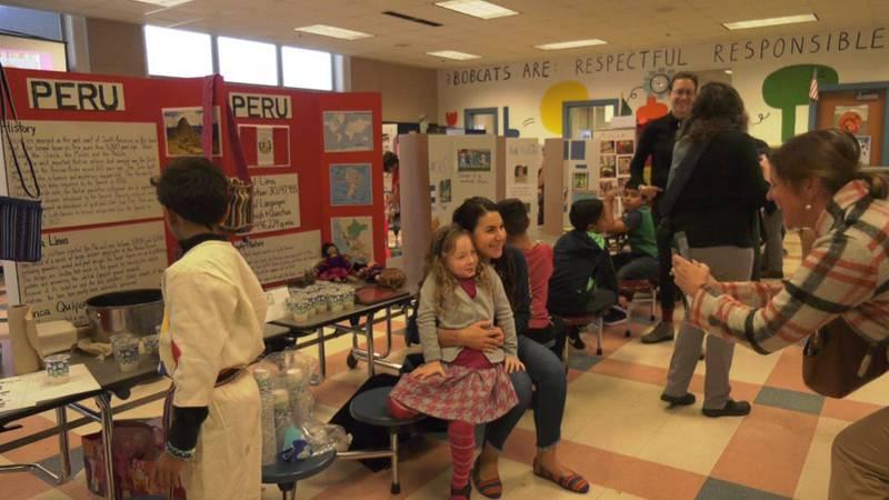 Multicultural Day at Burnley-Moran Elementary School.