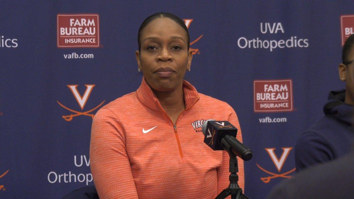 UVA women's basketball coach Tina Thompson