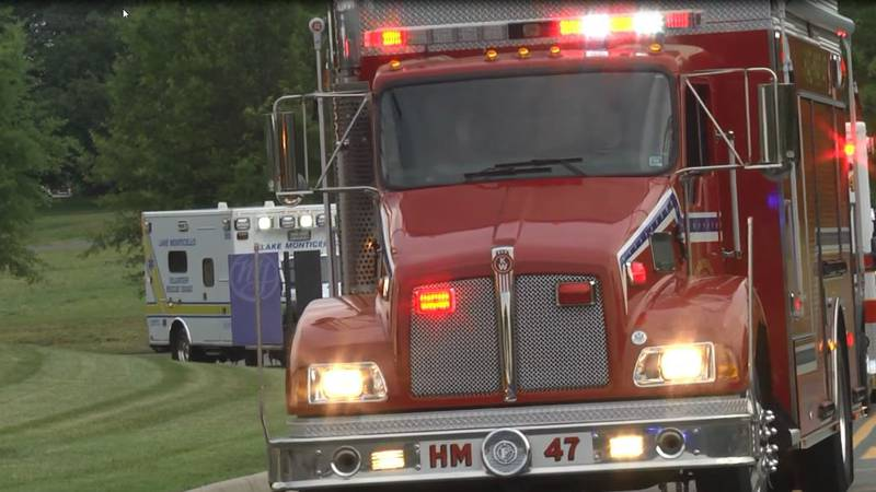 Multiple emergency response teams paraded around Sentara Martha Jefferson Hospital Thursday...