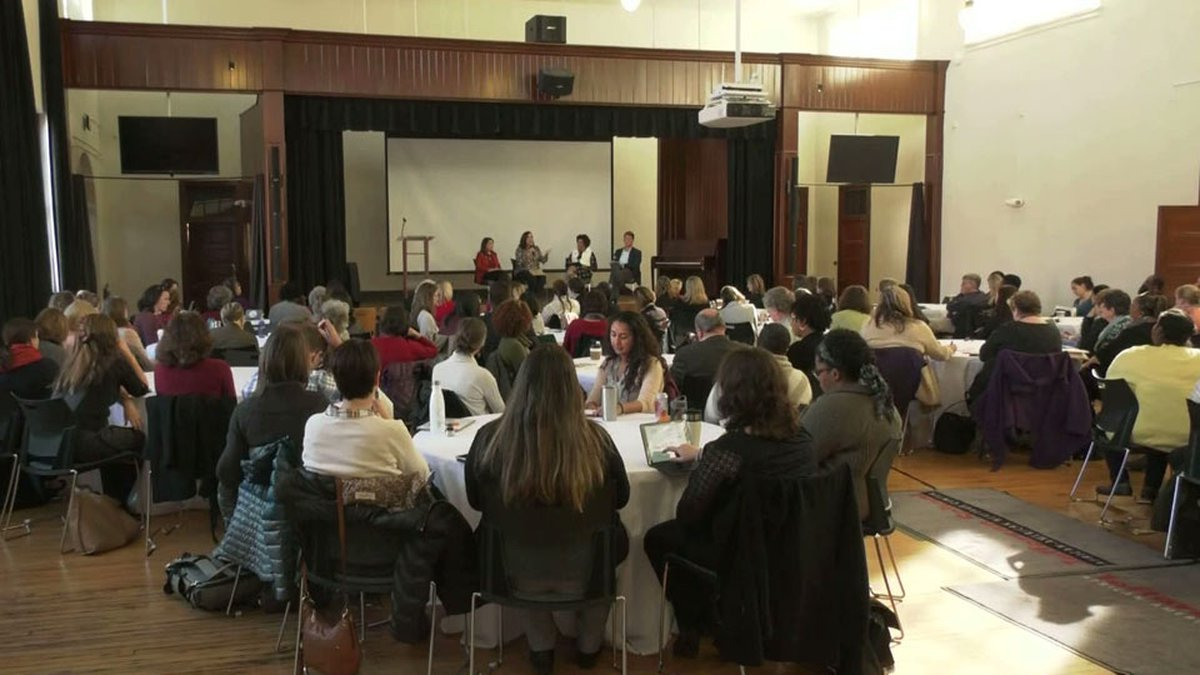 Panel discussion at the Jefferson School.